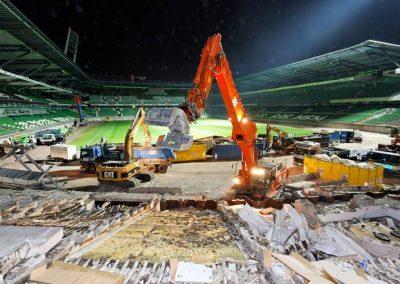 Arbeiten im Stadion