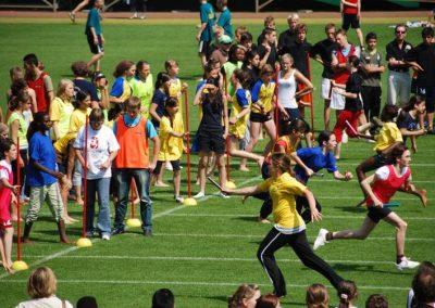 Der Staffellauf der Bremer Schulen