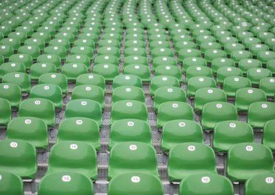 Detailaufnahme der Sitzplätze