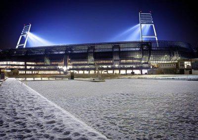 Winterlich - Werder gegen Hertha BSC